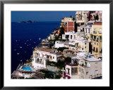 House Terraced into Amalfi Coastline, Positano, Italy Prints by Dallas Stribley