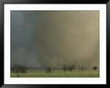 An F4 category tornado barrels across South Dakota farmland Posters by Peter Carsten
