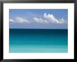 Clear Blue Water and White Puffy Clouds Along the Beach at Cancun Poster by Michael Melford