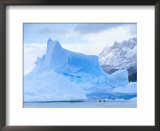 People Kayaking Near Floating Icebergs, Lago Gray, Torres Del Paine National Park, Patagonia Prints by Marco Simoni
