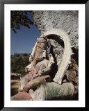 Stone Sculpture Shrine to the Hindu Deity Ganesh Prints by Gordon Wiltsie