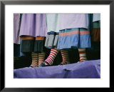 A view of people wearing striped stockings Posters by Joe Scherschel