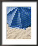 A view from above of a beach umbrella Art by Todd Gipstein