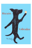 Biscuits Labrador Collectable Print by Ken Bailey