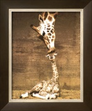 Giraffe, First Kiss Art by Ron D'Raine