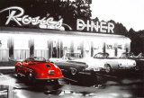 Rosie's Diner, voiture rouge Posters