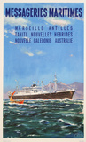 Mess Maritimes - Marseille Antilles Collectable Print by Gachons