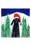 Santa Dog Collectable Print by Ken Bailey