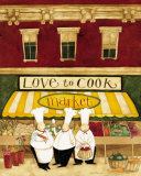 Love to Cook Market Affiches par Dan Dipaolo