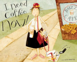 I Need Coffee Affiches par Dan Dipaolo