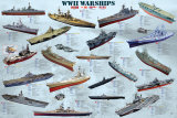 World War II War Ships Póster