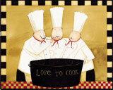 Three Chefs Tasting Affiches par Dan Dipaolo