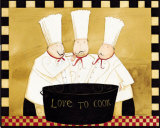 Three Chefs Tasting Prints by Dan Dipaolo