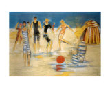 Beach Games Prints by Marie Versailles