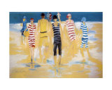 The Swimmers Print by Marie Versailles