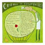 Creme de Courgettes Art by Céline Malépart
