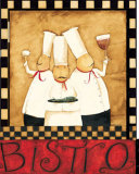 Three Chefs Wine Bistro II Art by Dan Dipaolo