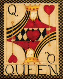 Queen of Hearts Print by Dan Dipaolo