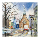Eglise Bonssecours Print by Jean-roch Labrie