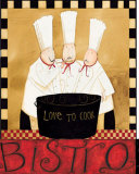 Three Chefs Soup Bistro I Posters by Dan Dipaolo