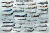 Avions de guerre modernes Affiches