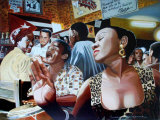 Salsa in Cuba Cafe Posters by Alain Bertrand