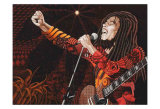 Bob Marley Print by Ingrid Black