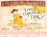 I Need Cupcakes Print by Dan Dipaolo