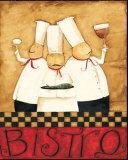 Three Chefs Wine Bistro I Affiches par Dan Dipaolo