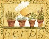 Herbes Poster par Dan Dipaolo