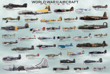 Flugzeuge aus dem 2. Weltkrieg Poster