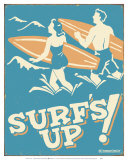 Surf's Up Poster by B. J. Schonberg