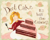 Diet Cake 1/2 the Calories Prints by Dan Dipaolo