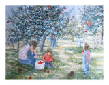 Picking Apples Posters by Hélène Léveillée