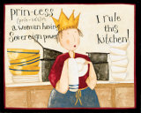 Princess Rules Posters by Dan Dipaolo