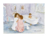 Getting Out of the Bath Prints by Hélène Léveillée