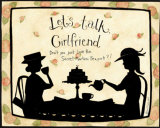 Let's Talk Girlfriend Prints by Dan Dipaolo