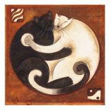 Yin Chi Yang Cats Posters van Aline Gauthier