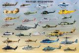 Śmigłowce wojskowe Plakaty