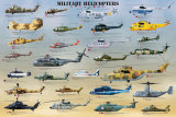 Helicópteros militares Pósters
