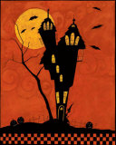 Haunted House Silhouette Prints by Dan Dipaolo