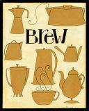 Brew Pots in Yellow Prints by Dan Dipaolo