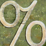 Typography: Percentage Sign Art by Debbie DeWitt