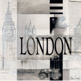 Tribute to London Poster av Marie Louise Oudkerk