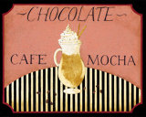 Cafe Mocha in Pink Poster by Dan Dipaolo