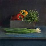 Still Life with Paprika Kunst von Van Riswick 