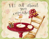It's All About You Cupcake Prints by Dan Dipaolo