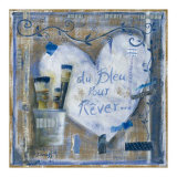 Coeur Bleu pour Rever Posters by Joëlle Wolff