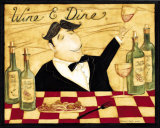 Wine and Dine Poster by Dan Dipaolo