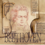 Tribute to Beethoven Plakater af Marie Louise Oudkerk